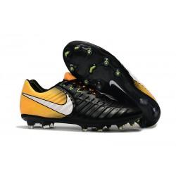 Nike Tiempo Legend VII FG Botas de Fútbol Con Tacos - Negro Amarillo