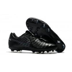 Nike Tiempo Legend VII FG Botas de Fútbol Con Tacos - Negro