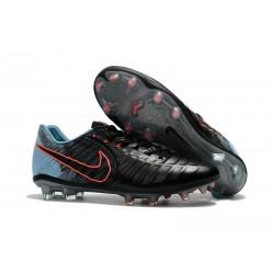 Nike Tiempo Legend VII FG Botas de Fútbol Con Tacos - Negro Azul