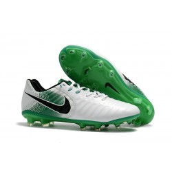 Nike Tiempo Legend VII FG Botas de Fútbol Con Tacos - Blanco Verde