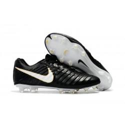 Nike Tiempo Legend VII FG Botas de Fútbol Con Tacos - Negro Blanco