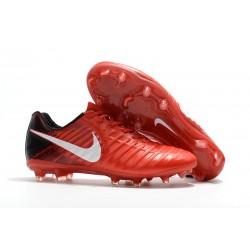 Nike Tiempo Legend VII FG Botas de Fútbol Con Tacos - Rojo Blanco
