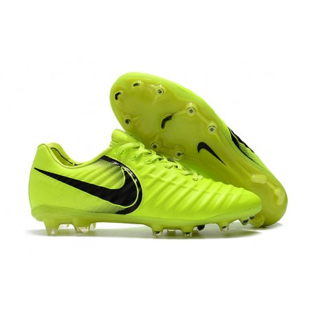 521028b609441b Nike Tiempo Legend VII FG Botas de Fútbol Con Tacos - Verde Negro