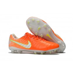 Nike Tiempo Legend VII FG Botas de Fútbol Con Tacos - Naranja Blanco