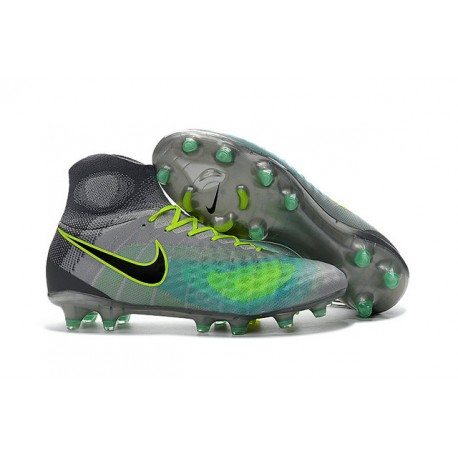 Botas de fútbol de hombre Magista Obra II FG Nike - Gris Verde 626d68406f0ca
