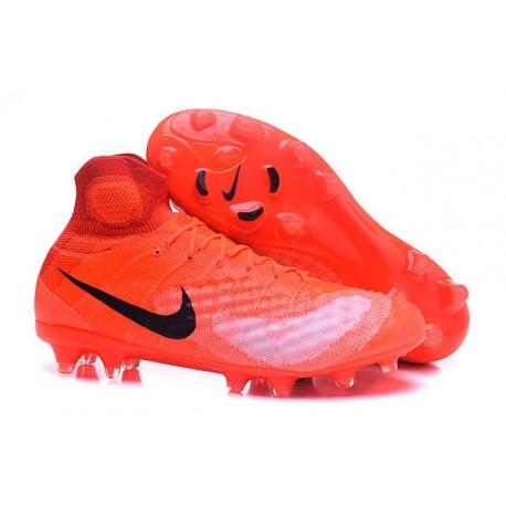 Botas de fútbol de hombre Magista Obra II FG Nike Naranja Negro