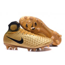 Nike Magista Obra 2 FG ACC Zapatos de Futbol - Oro Negro