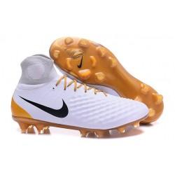 Nike Magista Obra 2 FG ACC Zapatos de Futbol - Blanco Oro