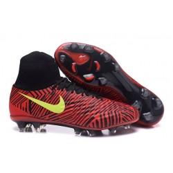 Nike Tacos Para Futbol Magista Obra II FG - Rojo Negro