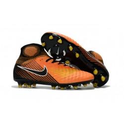 Botas de fútbol Nike Magista Obra II FG Hombres - Naranja Negro