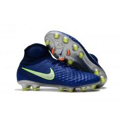 Zapatos Nike Magista Obra Ii Fg Con Acc Fútbol Botas - Azul
