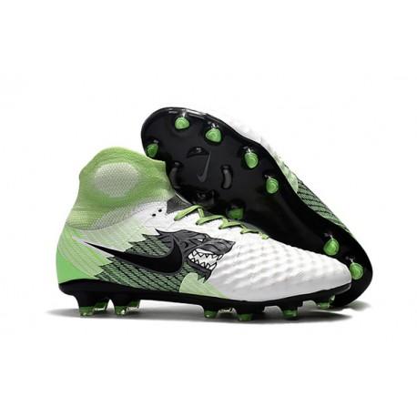 Zapatos Nike Magista Obra Ii Fg Con Acc Fútbol Botas Blanco Negro