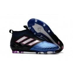 Botines de Futbol adidas Ace 17+ Purecontrol Fg - Azul Negro