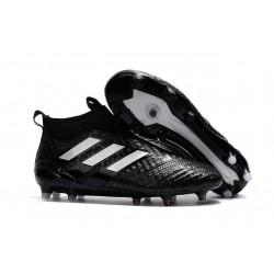 Botines de Futbol adidas Ace 17+ Purecontrol Fg - Negro Blanco