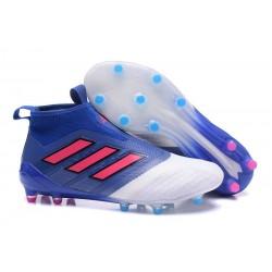 adidas Botas de Futbol Ace 17+ Purecontrol Fg - Azul Blanco Rosa