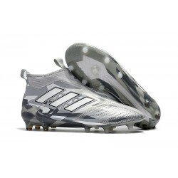 adidas Ace 17+ Purecontrol FG Nuevos Zapatillas de Fútbol - Gris Blanco