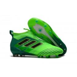 adidas Ace 17+ Purecontrol FG Nuevos Zapatillas de Fútbol - Verde Negro