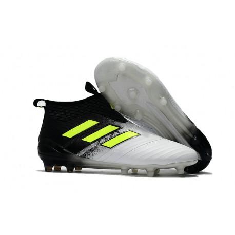 capacidad Gaseoso Colega  adidas Ace 17+ Purecontrol FG Nuevos Zapatillas de Fútbol - Blanco Negro  Amarillo