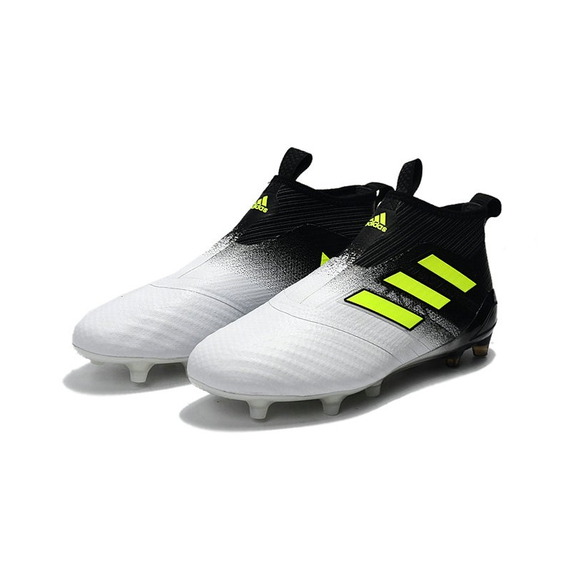 adidas Ace 17+ Purecontrol FG Nuevos Zapatillas de Fútbol Blanco Negro Amarillo