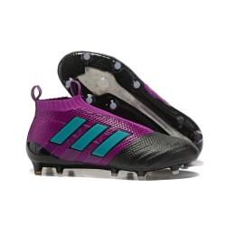 adidas Ace 17+ Purecontrol FG Nuevos Zapatillas de Fútbol - Violeta Negro