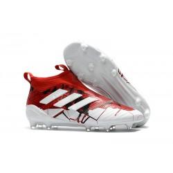 adidas Ace 17+ Purecontrol FG Nuevos Zapatillas de Fútbol - Rojo Blanco