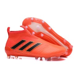adidas Nuevas Botas de Fútbol Ace 17+ Purecontrol FG ACC- Naranja Negro