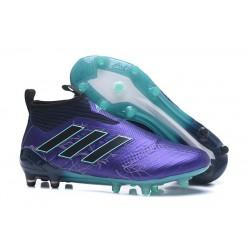 adidas Nuevas Botas de Fútbol Ace 17+ Purecontrol FG ACC- Viola Negro