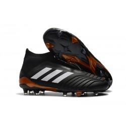Zapatillas de Futbol Adidas Predator 18+ FG Negro Blanco
