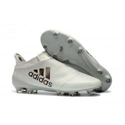 adidas X 17+ Purespeed FG Zapatillas de Futbol - Blanco Negro