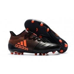 Botas de Futbol Adidas X 17.1 FG - Negro Naranja