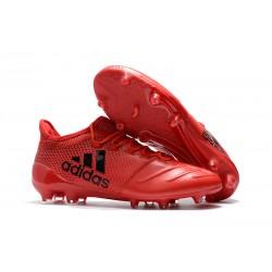 Adidas X 17.1 FG Nuevas Zapatos de Futbol Rosso Negro
