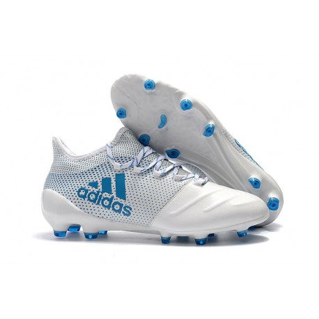 reunirse píldora Rama  Adidas X 17.1 FG Nuevas Zapatos de Futbol Blanco Azul