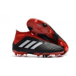 Zapatillas de Futbol Adidas Predator 18+ FG Negro Rojo Blanco