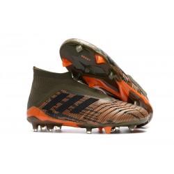 Zapatillas de Futbol Adidas Predator 18+ FG Verde Naranja Negro