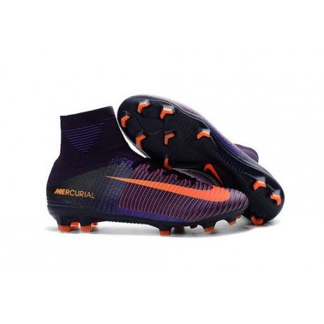 Nike Zapatillas de Fútbol Mercurial Superfly V DF FG Naranja Violeta