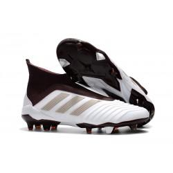 Zapatillas de Futbol Adidas Predator 18+ FG Blanco Marrón