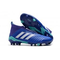 Zapatillas de Futbol Adidas Predator 18+ FG Azul Blanco