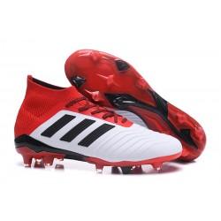 adidas Tacos de Futbol Predator 18.1 Fg - Blanco Rojo
