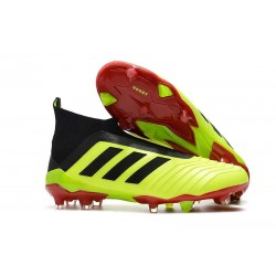 Zapatillas de Futbol Adidas Predator 18+ FG Amarillo Nero