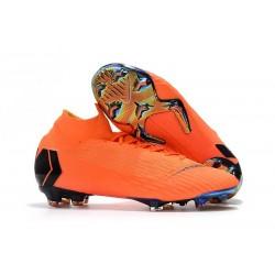 Nuevas Botas Nike Mercurial Superfly VI 360 Elite FG Naranja Negro