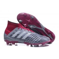 adidas Predator 18.1 Fg Botas de Futbol - Pogba Gris Rojo
