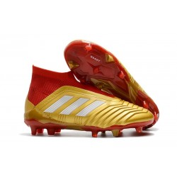 Adidas Tacos de Futbol Predator 18+ FG - Oro Rojo
