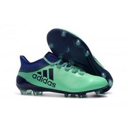 Adidas X 17.1 FG Nuevas Zapatos de Futbol Verde Negro