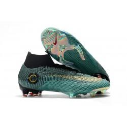 Nuevas Botas Nike Mercurial Superfly VI 360 Elite FG Ronaldo CR7 Azul Oro