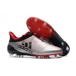adidas X 17+ Purespeed FG Zapatillas de Futbol - Plata Rojo Negro
