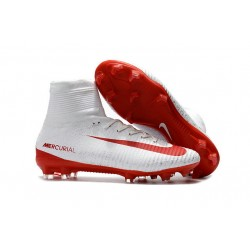 Nike Mercurial Superfly V Dynamic Fit FG Zapatillas - Blanco Rojo