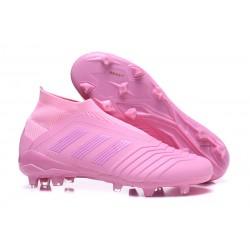 Adidas Tacos de Futbol Predator 18+ FG - Rosa
