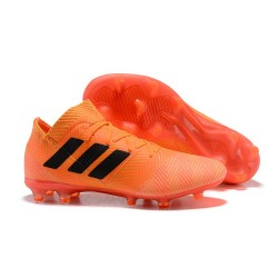 adidas Nemeziz Messi 18.1 FG Botas de fútbol - Naranja Negro