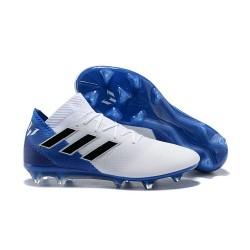 adidas Nemeziz Messi 18.1 FG Botas de fútbol - Blanco Azul