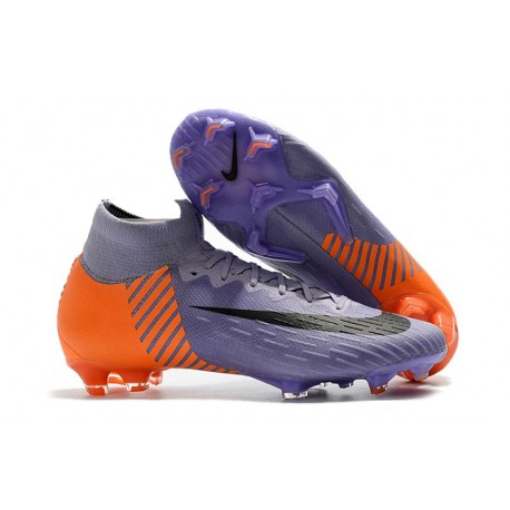 8895565a7855b Nuevas Botas Nike Mercurial Superfly VI 360 Elite FG Violeta Naranja